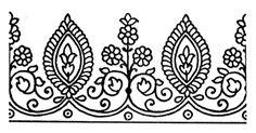 Henna Style Tattoo Flowers Exotic Border Used