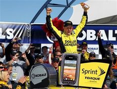 Matt Kenseth won on his 41st birthday for his new Joe Gibbs Racing team, barely holding off Kasey Kahne for his third victory at Las Vegas Motor Speedway on Sunday. 41st Birthday, Birthday For Him, Happy Birthday, Kobalt Tools, Las Vegas Motor Speedway, Nascar News, Matt Kenseth, Racing Team, No One Loves Me