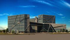 Multifunctional complex in Kyiv, Ukraine / Steel Freedom 2015 / ArhiCAD, 3ds max (V-Ray, Photoshop) teamwork
