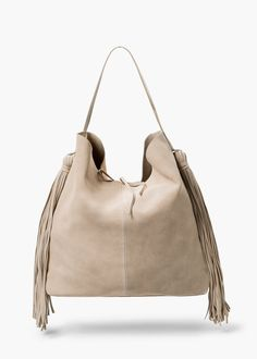 Fringed suede bag - Bags for Women | MANGO