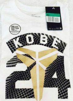 13ba60099805 Nike 24 Kobe Bryant Black Mamba Workout Basketball Boys XL White Dri Fit T- Shirt