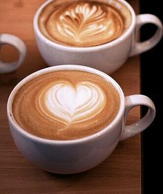Hearts in a cappuccino