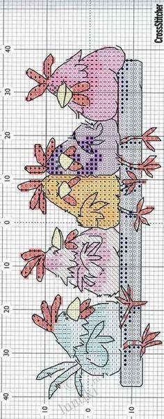Схема вышивки крестом - Курочка-наседка