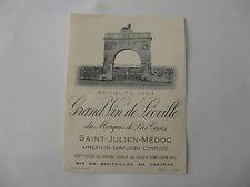 ETIQUETTE DE VIN  SAINT-JULIEN- MEDOC 1964