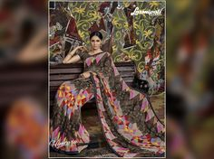 Enriched with attractive patterns & Printed Lace, Gray, Black & Multi coloured Georegette #Sarees will help you nail the ethnic chic look.  Order now @ http://bit.ly/29IHTei #couture #HIMTARA0616 #fashion #Sareedraping