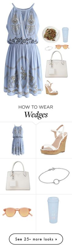 """""""#6909"""" by azaliyan on Polyvore featuring Chicwish, Prada, Charles by Charles David, Chimi and ban.do"""