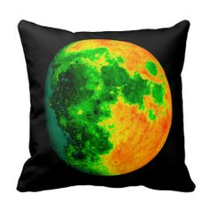 psychedelic color moon pillows