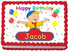 CAILLOU Edible image Cake topper design by SweetiesCakeToppers