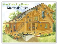 What goes into a Ward Cedar Log Home?  Find out here http://wardcedarloghomes.com/Materials.aspx