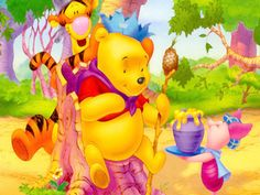Download Free Winnie The Pooh Day desktop hd wallpapers backgrounds images. More holiday wallpapers at: http://www.freecomputerdesktopwallpaper.com/