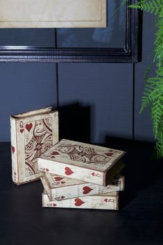 The Queen Of Hearts Book Box will sit beautifully in your office or on a sideboard in your living room. The fully functioning box is adorned with a Decorative Objects, Decorative Accessories, Home Accessories, Decorative Boxes, Die Queen, India Art, Heart Decorations, Queen Of Hearts, Home Collections