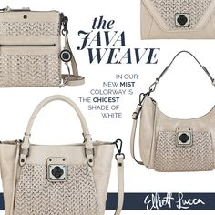 Intricately woven with subtle shine and texture, the Java Weave in our new mist colorway, is the chicest shade of white. Shop the collection.