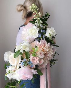 WEBSTA @ trillefloral - Bridal bouquet for Aethel from yesterday's wedding with @sandrachaudesign