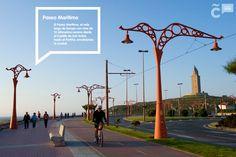 Descubre los lugares de interés turístico de nuestra ciudad recorriendo nuestro #PaseoMarítimo, un lugar único en el que combinar relax, deporte, paisaje... Wind Turbine, Spain, Relax, Walks, Castles, Tourism, Europe, Cities, Scenery