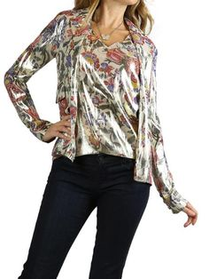 CHANEL Floral Print Jacket With Matching Top. EU 36/US 4 $1750 http://www.boutiqueon57.com/products/chanel-floral-print-jacket-with-matching-top-eu-36-us-4