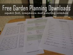 Our 2014 Garden Planning and Free Garden Planning Downloads for You