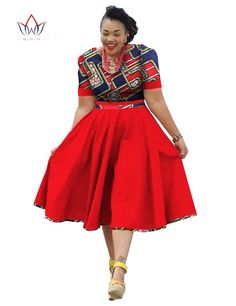 African Suits for Women | Plus Size Clothing 2017 spring Dress African Print Dre... at Diyanu