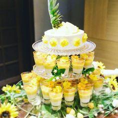 いいね!39件、コメント2件 ― 六絲水 ROKUSISUI KYOTO OKAZAKI  さん(@rokusisui_kyoto_okazaki)のInstagramアカウント: 「サマーウェディングケーキ #rokusisui #rokusisuikyotookazaki #ロクシスイ #ウェディングケーキ #ウェディングケーキデザイン #サマーウェディング #ひまわり イエロー summer sunflower yellow weddingcake 」