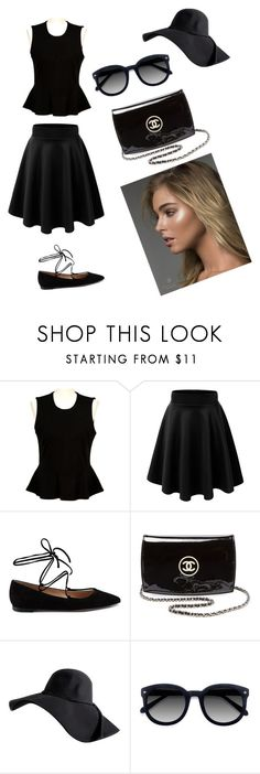 """Black #2"" by viki-pokorna ❤ liked on Polyvore featuring French Connection, Gianvito Rossi, Chanel and Ace"