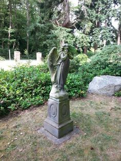 Whidbey Island Washington, Cemetery, Garden Sculpture, Outdoor Decor