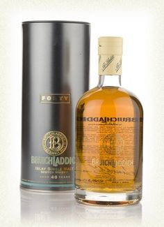 Bruichladdich 40 Year Old Single Malt Whisky. A release of just 500 bottles, this is the oldest bottling one can find from the Bruichladdich Distillery, Isle of Islay, Scotland. Palate: Firm, fresh. Creamy, jammy, juicy citrus, hints of mixed herbal teas. Finish: Quite long, gentle sweetness, oaky dryness.