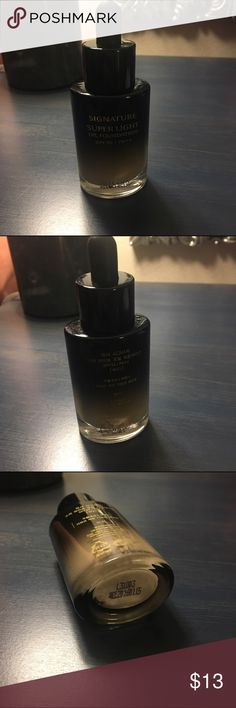 Missha Signature Super Light Oil Foundation, W21 This is a bottle of Missha's super light yet hydrating Oil Foundation. Hard to find in the US! It comes with a dropper applicator. This foundation was mentioned in a k-beauty YouTube video and I fell in love with it - the finish is natural and the formula is very soothing. Missha makes terrific skincare and makeup products! It's a little too warm on my NW20 skin. I've used this exactly once and also have swatched it and sanitized it. Thanks…