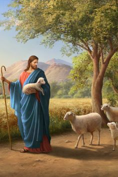 """The Lord Jesus said, """"My sheep hear my voice"""" (Jhn The Lord returns to utter words to call to His sheep. The key thing in our waiting for the coming of the Lord is to seek to hear the voice of the Lord. Jesus Christ Painting, Jesus Art, Bible Images, Bible Pictures, God Pictures, God Is, Jesus Is Lord, Christus Pantokrator, Jesus Photo"""