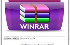 WinRAR Password Remover Tool 2016 Crack & Serial Key