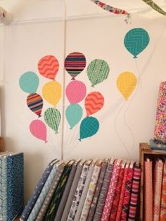 fabric + starch = wall art from Dry Goods Design online. Cool!!!