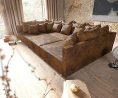 Wohnlandschaft - New ideas Bedroom Sofa, Living Room Sofa, Living Room Decor, Big Couch, Big Sofas, Couch Furniture, Leather Furniture, Ideas Decoracion Salon, Sofa Lounge