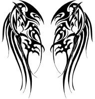 Tribal Wings by Velveteeniris on DeviantArt Wing Tattoo – Fashion Tattoos Trendy Tattoos, New Tattoos, Tribal Tattoos, Body Art Tattoos, Sleeve Tattoos, Tattoos For Guys, Skull Tattoos, Cool Tattoos, Viking Tattoos