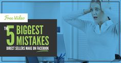 NEW free training by direct selling expert, Laurie Girardi. Find out if what you're doing on Facebook is helping or hurting your business. Learn the 5 Biggest Mistakes Direct Sellers Make on Facebook! You'll learn about some of the newest features Facebook has added recently AND go away with action steps you can take right away. What are you waiting for? It's free! (And you get a reply link in your inbox.)