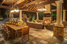 Rustic Outdoor Patios and Decor Ideas - Rustic Deck And Terrace - Kitchen Outdoor Kitchen Patio, Rustic Patio, Outdoor Kitchen Design, Outdoor Decor, Outdoor Patios, Rustic Outdoor Kitchens, Outdoor Ideas, Kitchen Rustic, Outdoor Furniture