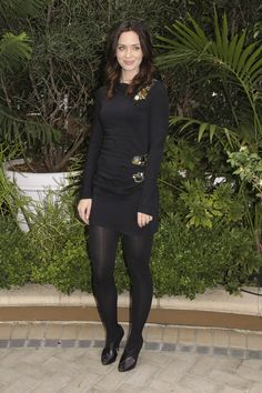 Beautiful Women Wearing Pantyhose, Stockings, Thigh Highs, Knee Socks, and Hosiery (No Nudity) Pantyhose Outfits, Black Pantyhose, Black Tights, Nylons, Emily Blunt, Fashion Tights, Tights Outfit, Beautiful Celebrities, Gorgeous Women