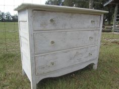 ✔✯ Vintage wood Dresser, #shabby chic furniture, white dresser, #farmhouse... Just for http://etsy.me/2oyzAKK