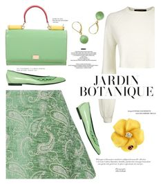 """mint garden"" by paperdollsq ❤ liked on Polyvore featuring Natasha Zinko, Jaeger, Louis Vuitton, Dolce&Gabbana, StyleNanda and Belk & Co."