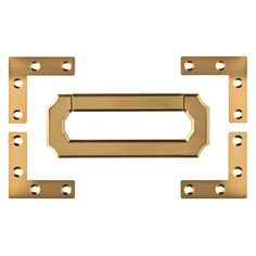 Liberty 3 in. Vintage Style Champagne Bronze Campaign Hardware Set with Corner-CHS002-CZ-R - The Home Depot