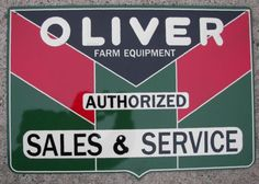 OLIVER-TRACTOR-EMBOSSED-OLIVER-SIGN Agriculture, Farming, Antique Tractors, Vintage Farm, Steam Engine, Chevy, Advertising, Signs, Brochures