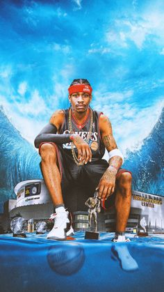 Allen Iverson one of the most popular influential nba players of all time Mvp Basketball, Michael Jordan Basketball, Basketball Design, Basketball Legends, Michael Jordan Art, Street Basketball, Basketball Tickets, Basketball Shooting, Basketball Quotes