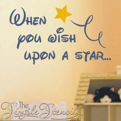 Wish Upon A Star - Vinyl Wall Art Decal For School Classrooms & Libraries. Removable Educational Decals For Teachers #wishuponastar #wish #star #disney #disneyworld #kidsroom #kidsroomdecor #classroomdecor #stars #wallstencils #walldecals #wallart #wallstickers #disneydecals #disneystickers #disneyart #disneyprincess #cinderella #cinderellaquotes #TheSimpleStencil #wallart