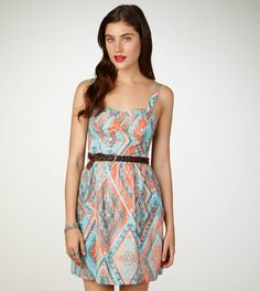 AE TRIBAL CORSET DRESS  STYLE: 1396-9103 | COLOR: 321  $39.50