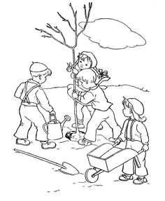 Plant A Tree For Arbor Day Coloring Page See the category to find more printable coloring sheets. Also, you could use the search box to find what you . Coloring Pictures For Kids, Coloring Pages For Boys, Coloring Pages To Print, Colouring Pages, Coloring Sheets, Free Coloring, Earth Day Coloring Pages, Tree Coloring Page, Coloring Book Art