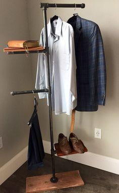 Excited to share the latest addition to my #etsy shop: Pipe & Cedar Garment Rack #furniture #storage #housewarming #black #valentinesday #homedecor #handmadedisplay