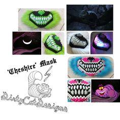 334f190e6240 Cheshire Kandi Mask by  DirtyCatDesigns.  Kandi  Kandimask