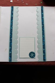 Blue Shimmer paper..can't remember the sticker pack, sorry...threw away the packaging