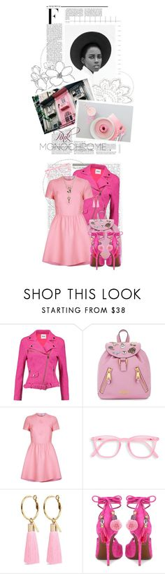 """Color Me Pretty: Head-to-Toe Pink"" by crystal85 ❤ liked on Polyvore featuring Nicki Minaj, Boutique Moschino, Moschino, Valentino, Mignonne Gavigan, Dolce&Gabbana, Betsey Johnson and monochromepink"