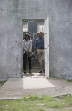 The Obamas in Africa | Barack Obama visits Robben Island with his family. | Photo: Madelene Cronje/ SAPA/ News24
