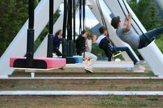 The Musical Swings in San Jose- Cesar Chavez Plaza