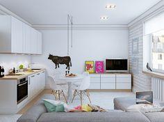 Zdjęcie numer 6 w galerii - Nowoczesne małe mieszkanie w skandynawskim stylu