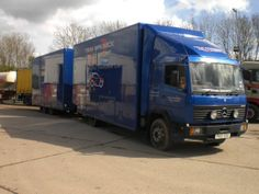 Mercedes Benz based rally support truck and drawbar trailer